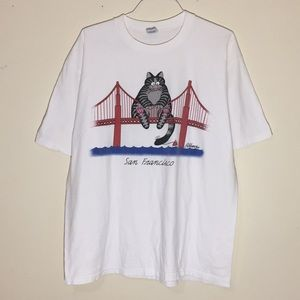 Vintage 1990s San Francisco Cat T-Shirt